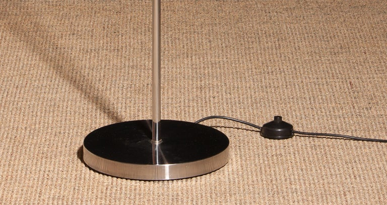 Stainless Steel 1970, Chrome and Steel Floor Lamp, Italy For Sale