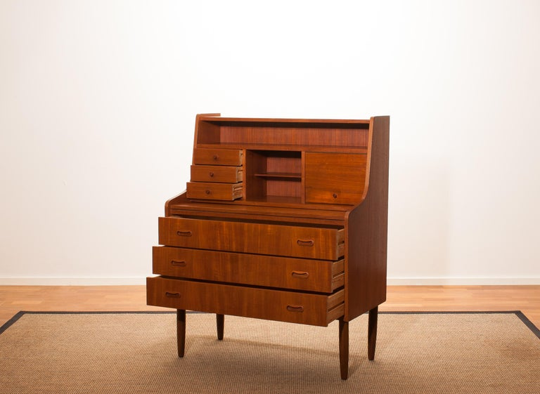 1950s, Teak Secretaire or Dressing Table in Style of Peter Hvind For Sale 1