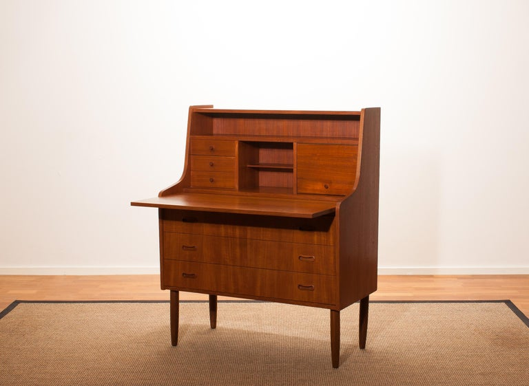 1950s, Teak Secretaire or Dressing Table in Style of Peter Hvind For Sale 2