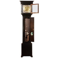 Early 18th Century, I.W.M., London Longcase Clock in Black Polish