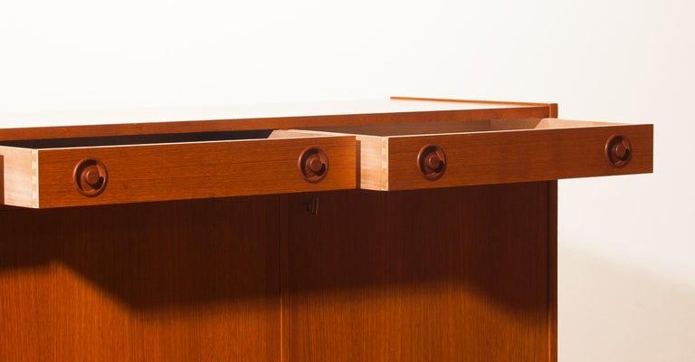 1950s, Teak Sideboard by Brexo Möbler, Sweden In Excellent Condition For Sale In Silvolde, Gelderland