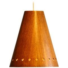 Wooden Pendant by Uno & Östen Kristiansson for Luxus Vittsjö, 1950s
