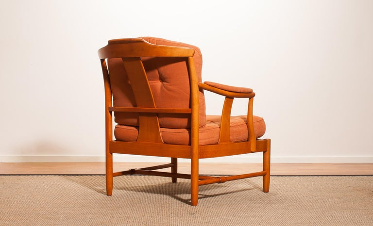 1960, Beech Lounge Or Armchair, Sweden For Sale At 1stdibs