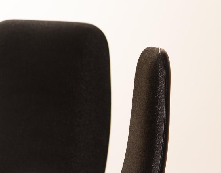 Four Golden, with Black Fabric, Armrest Swivel Chairs by Johanson Design, 1970 For Sale 7