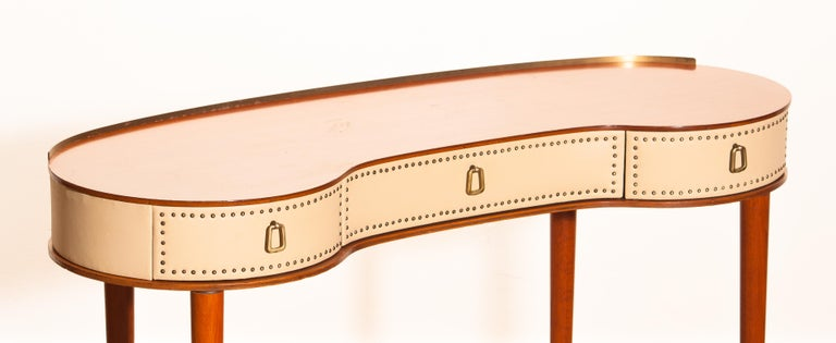 Mid-Century Modern Mahogany Vanity or Dressing Table by Halvdan Pettersson for Tibro, Sweden, 1950s For Sale