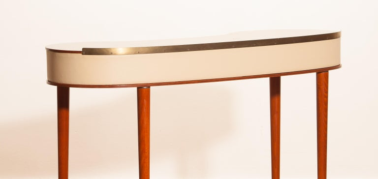 Mahogany Vanity or Dressing Table by Halvdan Pettersson for Tibro, Sweden, 1950s For Sale 1