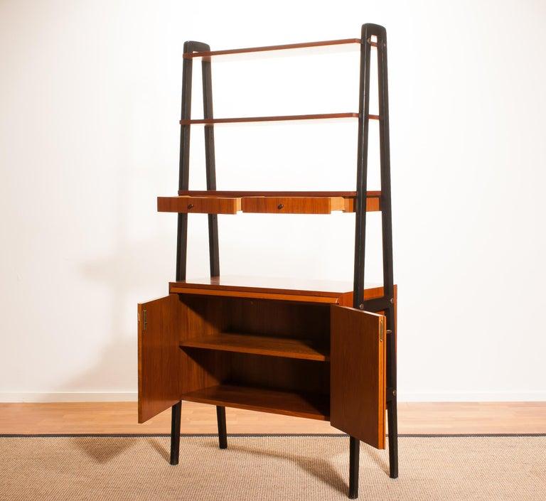 1950s, Teak Room Divider or Bookshelves, Sweden 2