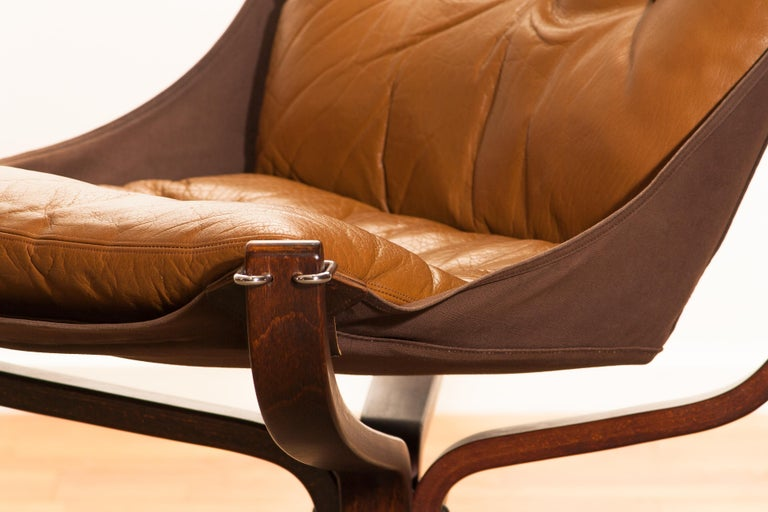 1970s, Camel Leather 'Falcon' Lounge Or Easy Chair By