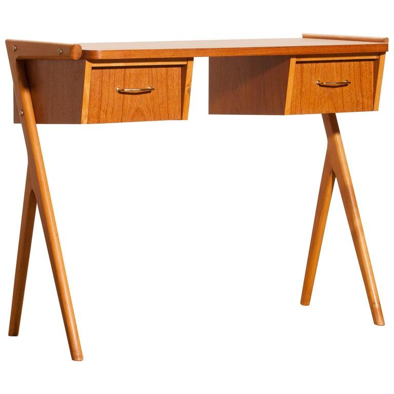 1950s, Teak Swedish Side Table or Ladies Desk For Sale