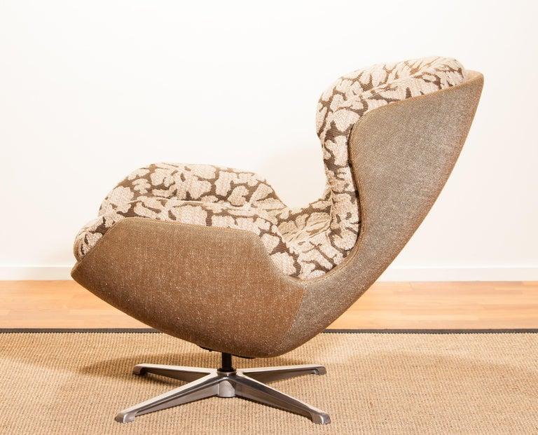 Steel Swivel Lounge Chair 'Partner' by Lennart Bender for Ulferts, 1970s For Sale