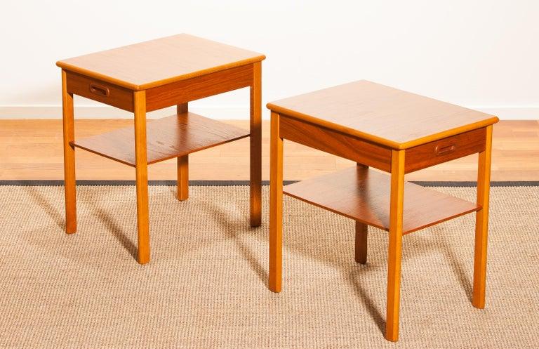 Pair of Teak Bedside Tables by Säffle, Sweden, 1950s In Good Condition For Sale In Silvolde, Gelderland