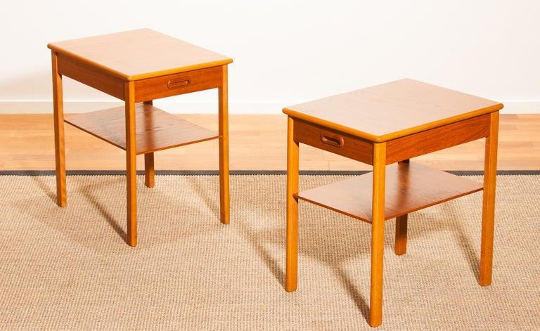 Pair of Teak Bedside Tables by Säffle, Sweden, 1950s For Sale 2
