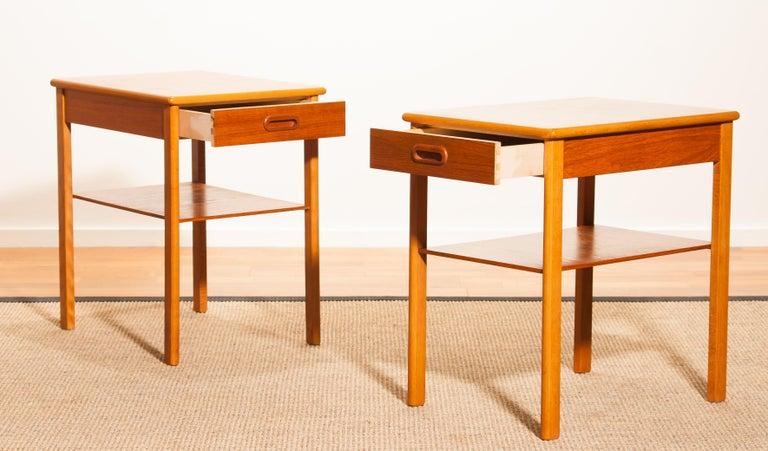 Pair of Teak Bedside Tables by Säffle, Sweden, 1950s For Sale 3