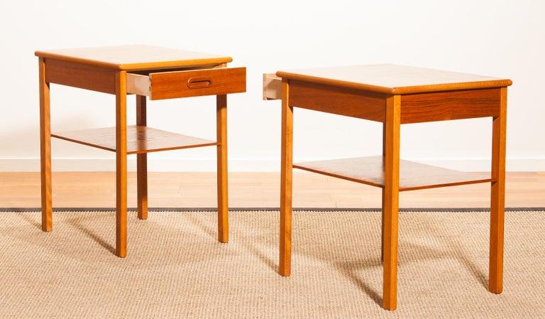 Pair of Teak Bedside Tables by Säffle, Sweden, 1950s For Sale 4