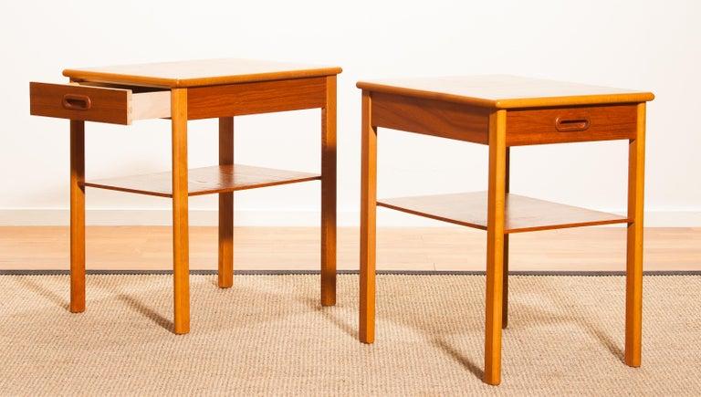 Pair of Teak Bedside Tables by Säffle, Sweden, 1950s For Sale 5