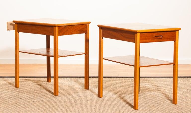 Pair of Teak Bedside Tables by Säffle, Sweden, 1950s For Sale 6