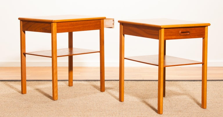 Pair of Teak Bedside Tables by Säffle, Sweden, 1950s For Sale 7