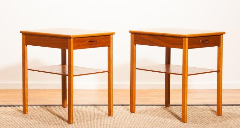 Pair of Teak Bedside Tables by Säffle, Sweden, 1950s For Sale 8