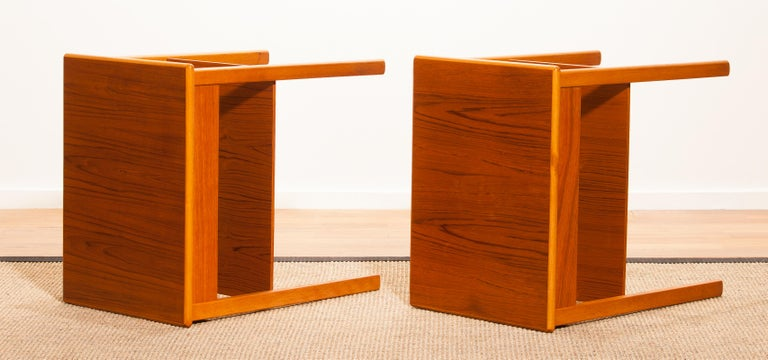 Pair of Teak Bedside Tables by Säffle, Sweden, 1950s For Sale 9
