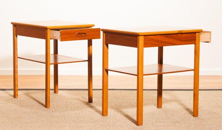Pair of Teak Bedside Tables by Säffle, Sweden, 1950s For Sale 10