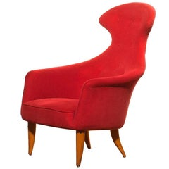 1950s, Beautiful 'Stora Eva' Chair by Kerstin Hörlin-Holmquist