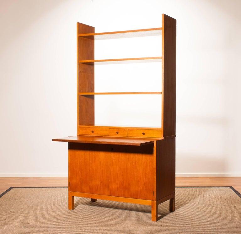 1950s, Teak Secretaire Bookcase Kitchen Cabinet 2