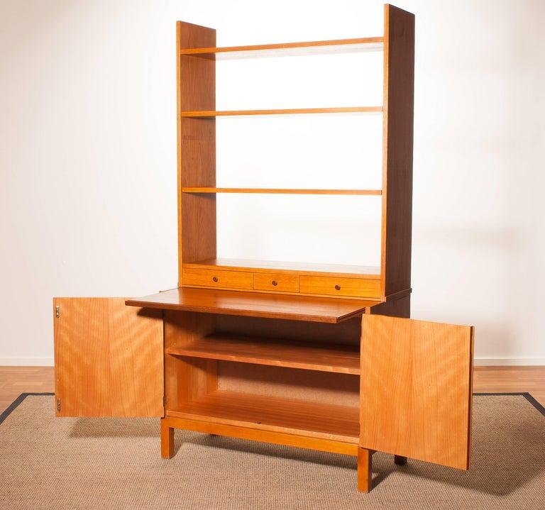 1950s, Teak Secretaire Bookcase Kitchen Cabinet 5