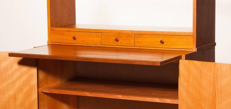 1950s, Teak Secretaire Bookcase Kitchen Cabinet 6