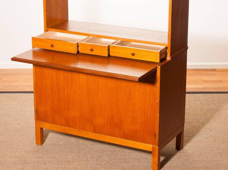 1950s, Teak Secretaire Bookcase Kitchen Cabinet 4