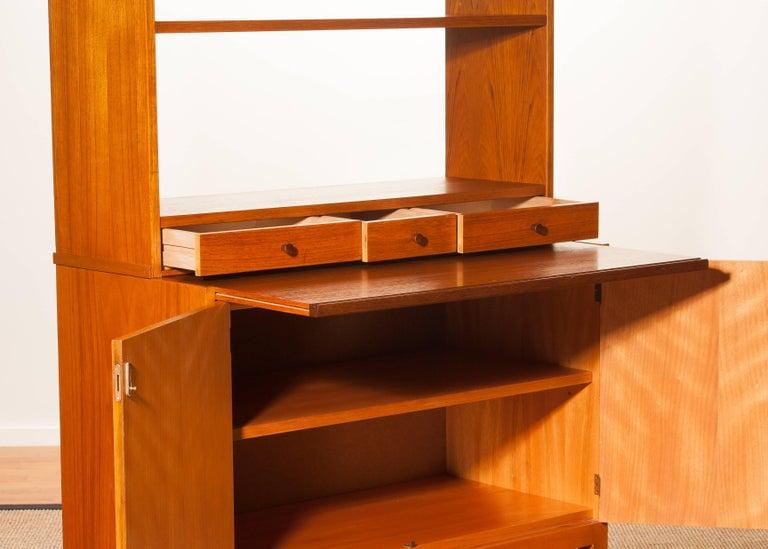 1950s, Teak Secretaire Bookcase Kitchen Cabinet 8