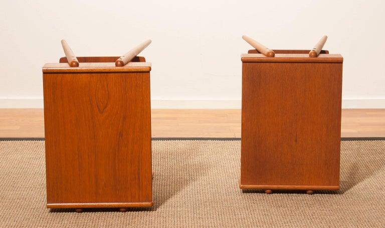 1960s, a Pair of Teak Bedside Tables 8