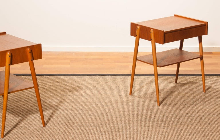 1960s, a Pair of Teak Bedside Tables 5