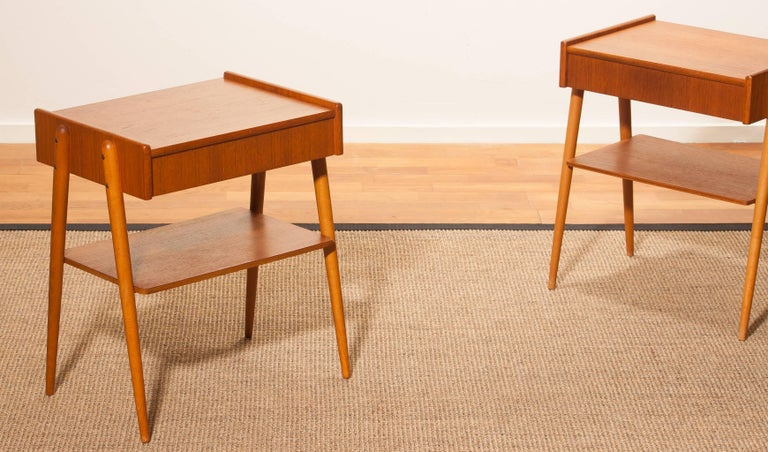 1960s, a Pair of Teak Bedside Tables 6