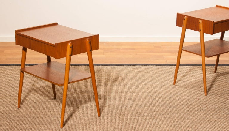 1960s, a Pair of Teak Bedside Tables 4