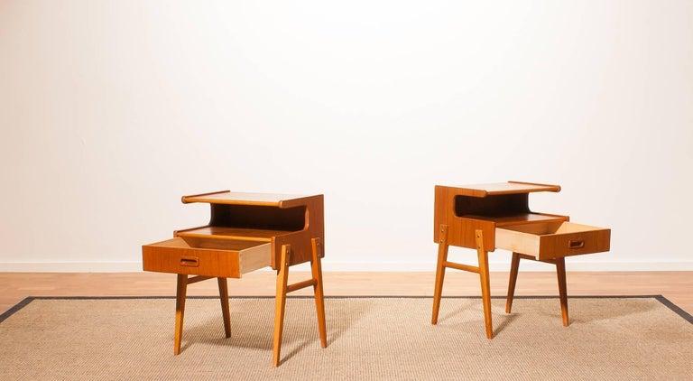 1960s Pair of Teak 'Model C' Bedside Tables 3