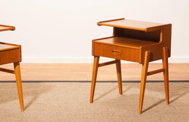 1960s Pair of Teak 'Model C' Bedside Tables 7