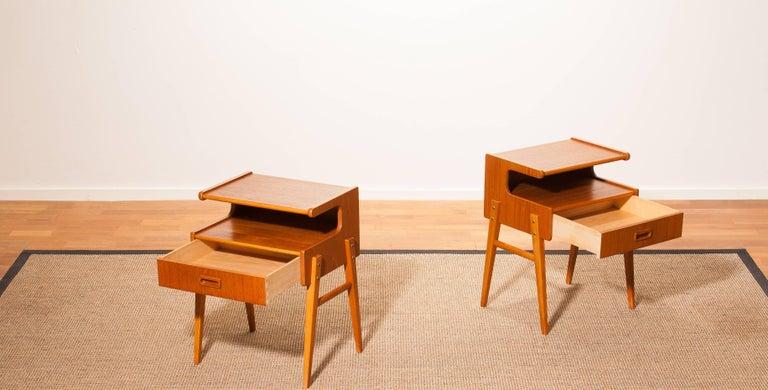 1960s Pair of Teak 'Model C' Bedside Tables 4