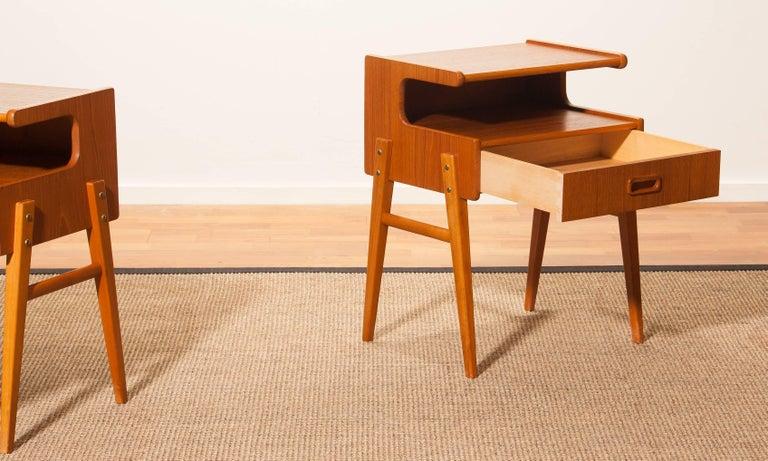 1960s Pair of Teak 'Model C' Bedside Tables 6