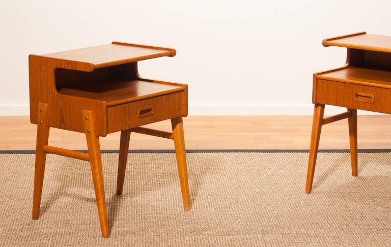 1960s Pair of Teak 'Model C' Bedside Tables 8