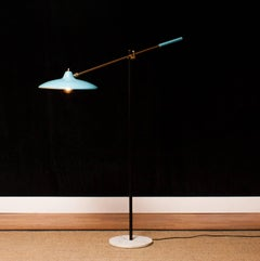1950s, Floor Lamp by Stilnovo in Blue/Black