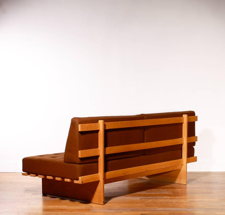 Mid-20th Century 1960s Oak and Wool Daybed by DUX For Sale