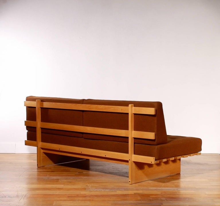 1960s Oak and Wool Daybed by DUX For Sale 1