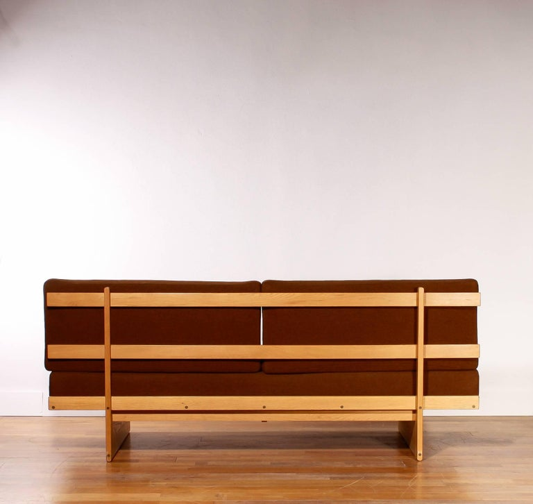 1960s Oak and Wool Daybed by DUX For Sale 2