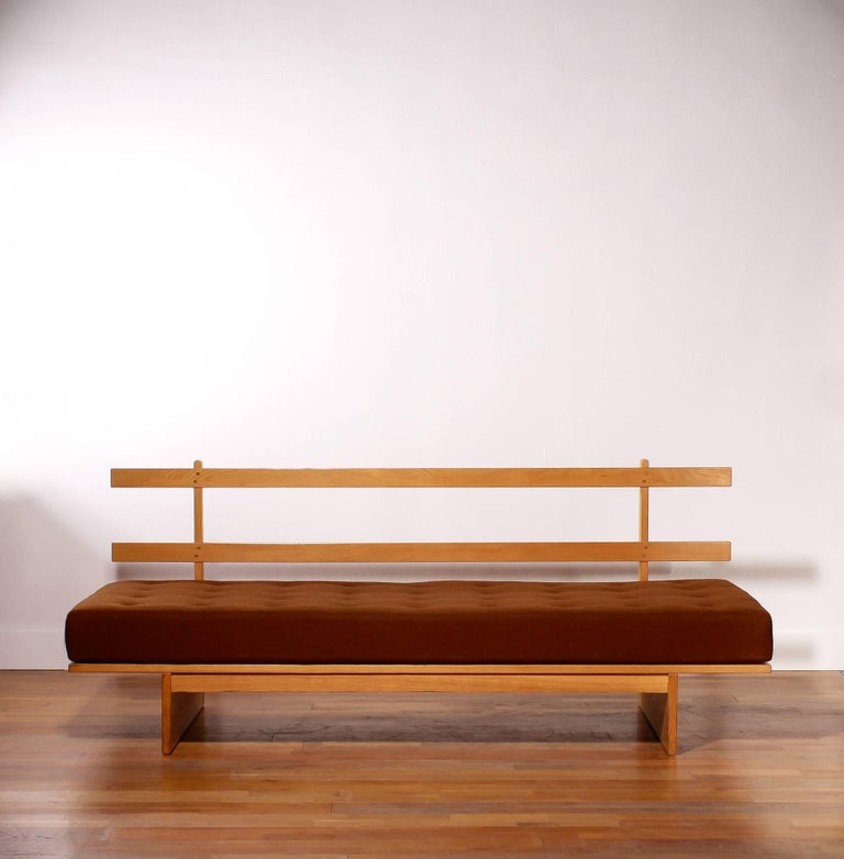1960s Oak and Wool Daybed by DUX For Sale 4