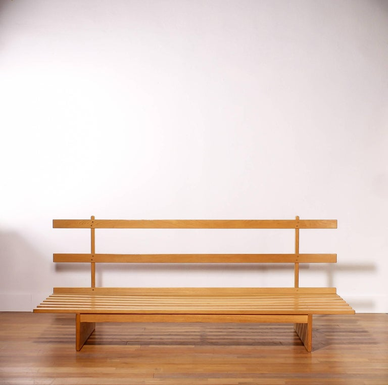 1960s Oak and Wool Daybed by DUX For Sale 5