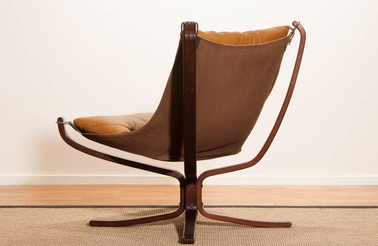 1970s, Camel Leather 'Falcon' Lounge or Armchair by Sigurd Ressell For Sale 4
