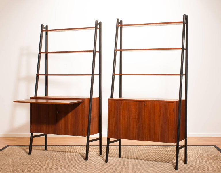 1950s, Two Teak Bookcases Roomdividers Cabinets  In Excellent Condition For Sale In Silvolde, Gelderland