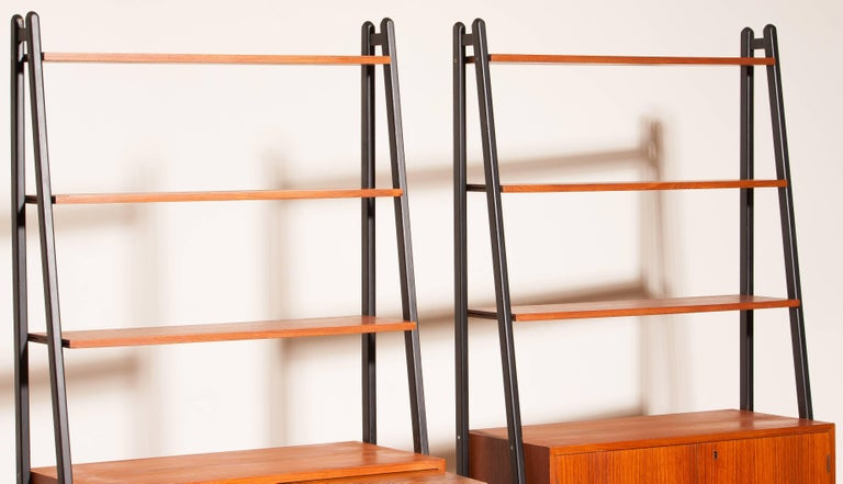 1950s, Two Teak Bookcases Roomdividers Cabinets  For Sale 2