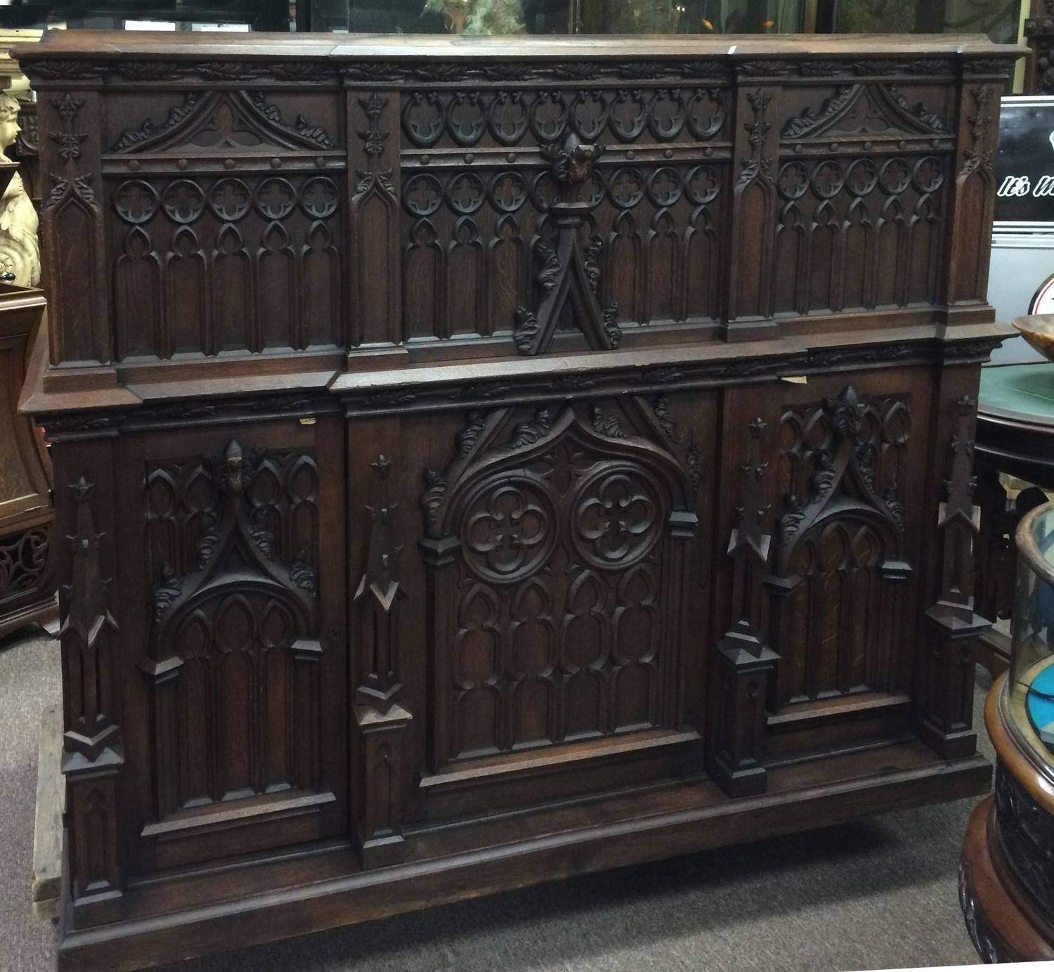 Amazing Gothic Roll Top Desk with Hidden partments For