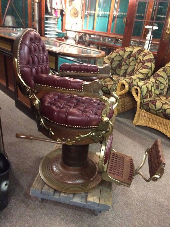 This E Berninghaus Hercules Hydraulic Barber Chair Is No Longer